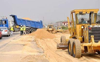 *One of the many road construction sites in Yenagoa. Though welcome road users also complain about worsening traffic as a result