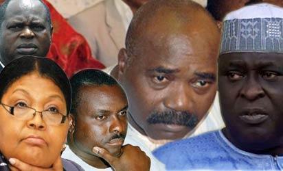 Diepreye Alamieyeseigha, Cecelia Ibru, James Ibori, Lucky Igbinedion and Tafa Balogun