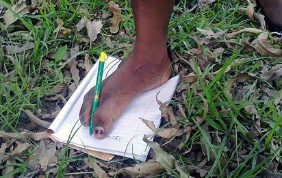 *The toes that write