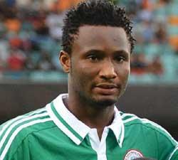 Nigeria's midfielder John Obi Mike