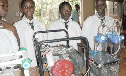 From left; Faleke Oluwatoyin, Duro-Aina Adebola, Akindele Abiola and Bello Eniola