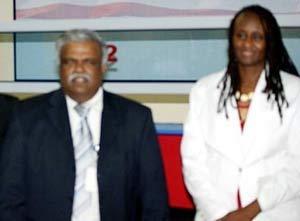 Ambassador Sanders with the VFS Global VP for Africa Operations, Mr. Paul Vijayakumar