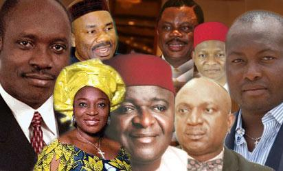 Soludo, Ogene, Odenigbo, Uzoh, Mrs. Ekwunife , Okonkwo, Ndubuisi and Ifeanyi Uba