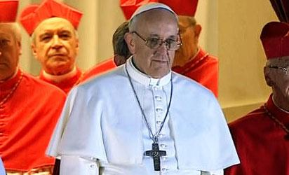 Newly elected Pope Francis I, formerly Cardinal Jorge Mario Bergoglio, Archbishop of Buenos Aires.