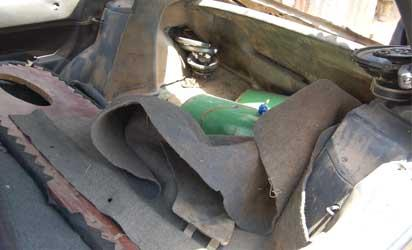 The primed suicide car recovered by the JTF in Kano