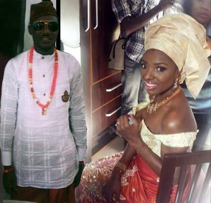 *Tuface and Annie Idibia during their traditional marriage
