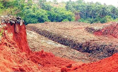 *One of the erosion-ravaged sites in Awka