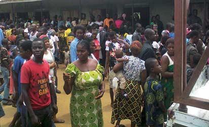 *Displaced ...where else do we go?. Inset: Senator Ita-Giwa