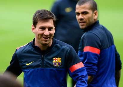 Barca players in training...