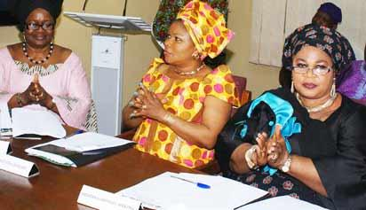 Pix from righ Mrs Idera Oshinubi Martins; Mrs Janet Mba Afolabi and Mrs Funmi Ladele