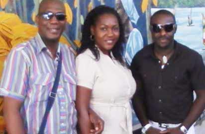 X-adebija in Ghana with Nollywood stars