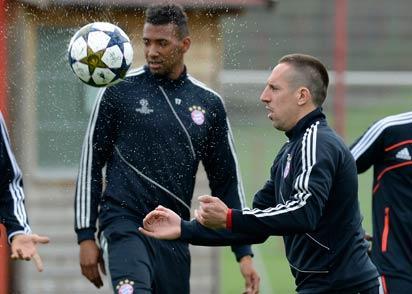 Bayern players in training ...