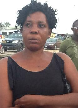 Mrs. Flora Victor, relation of slain Constable Lucky Ebebi at the FMC waterside