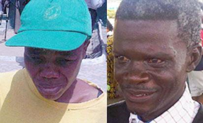 Freed inmates: Elizabeth Sampsom (l) and Taiwo Alatishe