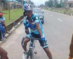 Akaegbu, one of the top female cyclists in Nigeria who is going to benefit from the use of the Velodrome.