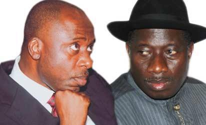 Rotimi Amaechi and Goodluck Jonathan