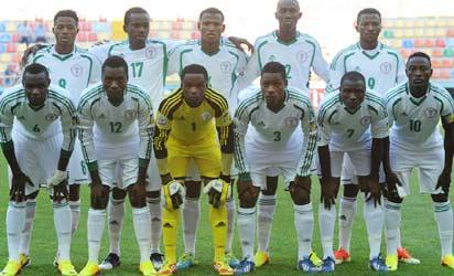 KAYSERI, ENGLAND - JUNE 24: The Nigeria players line up for a team photograph before the FIFA U-20 World Cup Group B match between Cuba and Nigeria at Kadir Has Stadium on June 24, 2013 in Kayseri, Turkey. (FIFA)