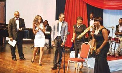 *Sosan and friends during the performance at Muson.