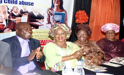L-R Mr Fred Odueme Assistant General Manager (Brands) Vanguard Newspaper, Dr. Mrs Gloria Chioma-Ibe Director Centre For Black African Arts And Civilization (CBAAC) & Mrs. Olufunmilayo Adesegun Wife of the Deputy Gov of Ogun State