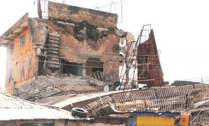 101-yr-old 3-storey building collapses in Kaduna