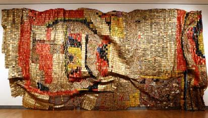 *One of the works by El Anatsui