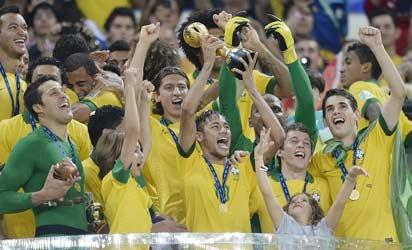 2013 FIFA Confederations Cup champions  Brazil after  beating Spain  3-0