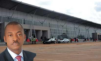 Akanu Ibiam International Airport , Enugu terminal building inset Governor Sullivan Chime