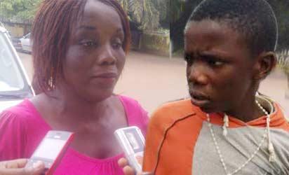 Evelyn Oikhena and son, Daniel Oikhena