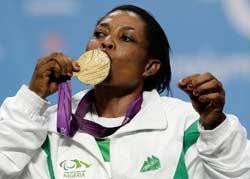 Late Joy Onaolapo at the London 2012 Paralympics