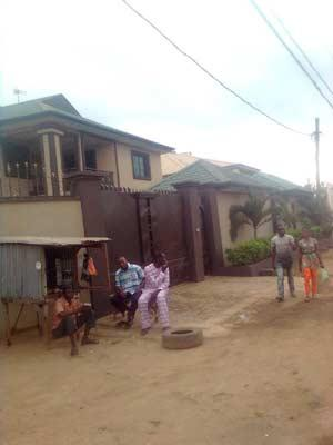 Some of the houses in Shasha community.