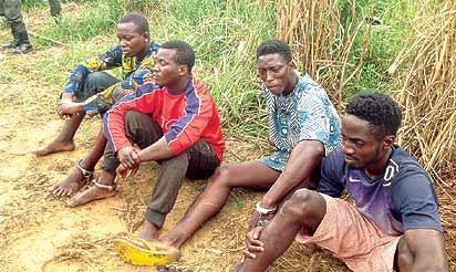 *Suspects: Power Segmefe (1st right)