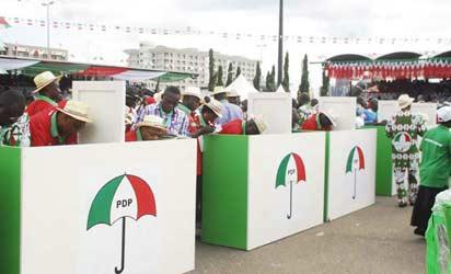 PDP Special National Convention: Delegates casting their votes at 2013 PDP Special National Convention . Photo by Gbemiga Olamikan.