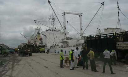 Vessels discharging at Port Harcourt port