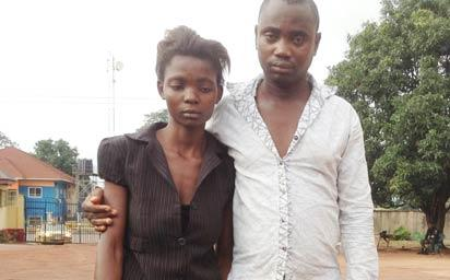 The suspects, Samuel Ani (right) and Oluchi Faith Ogbu