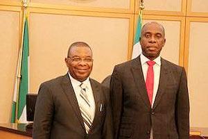 *Justice P.C.N Agumagu (l) and Governor Amaechi