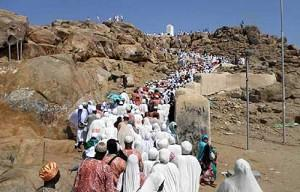 *Ogun Pilgrims at Mount Jabalithaor one of the holy sites in Makkah
