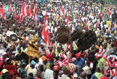 Ojude Oba celebrations in Ijebu-Ode, Thursday.