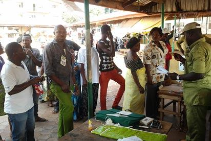 Accreditation at  Dunukofia Local Government Area. Photo: Tony Edike