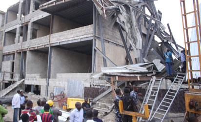 The collapsed shopping mall