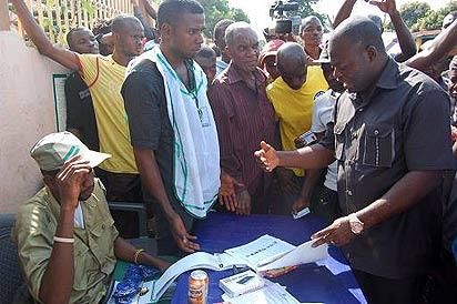 Nwoye at the Polling unit...