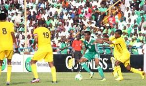 Mikel Obi in action for Nigeria during the World Cup Qualifier match against Ethiopia at the  U.J. Esuene  Stadium, Calabar , Saturday. November 16, 2013. Photo: NAN