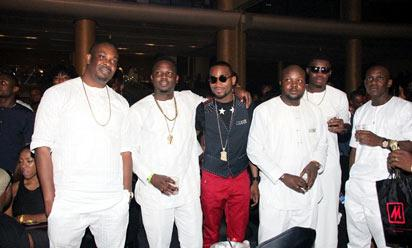 File: Don Jazzy, D'banj, Dr Sid at Ice Prince , others