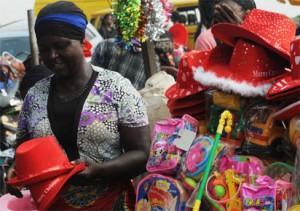 Christmas shopping at  Oshodi yesterday in Lagos,