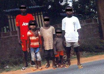 *Children being detained by the Police in Anambra State.
