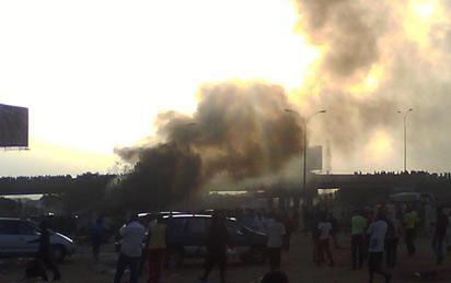 The Nyaya explosion: Photo: Citizen  Irikefe Bubu-Joe .