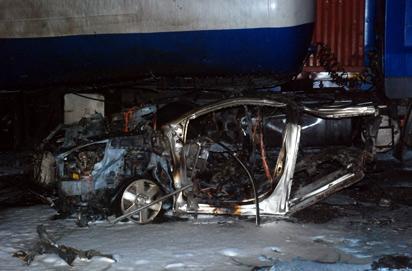The scene of the blast at Apapa.