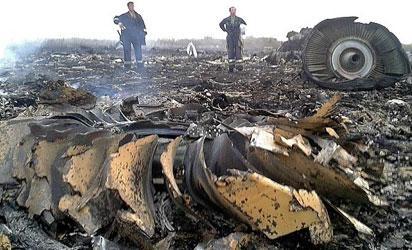 Site of  Malaysian jet crash