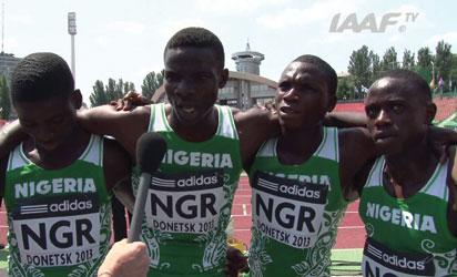 •United we Stand... Nigerian juniors pleading for adequate training and preparations for major international meets.