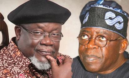 Chief Tom Ikimi and former Lagos governor, Asiwaju Bola Ahmed Tinubu