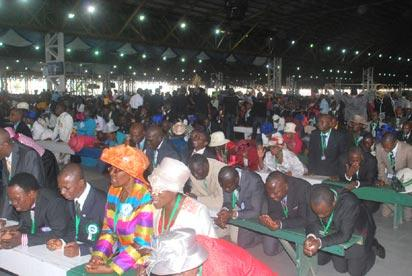 Cross sections of Pastors shortly before their ordination during the Ordination of Pastors and Thanksgiving service to mark the end of the 62nd Convention of RCCG on sunday.  Photo Lamidi Bamidele